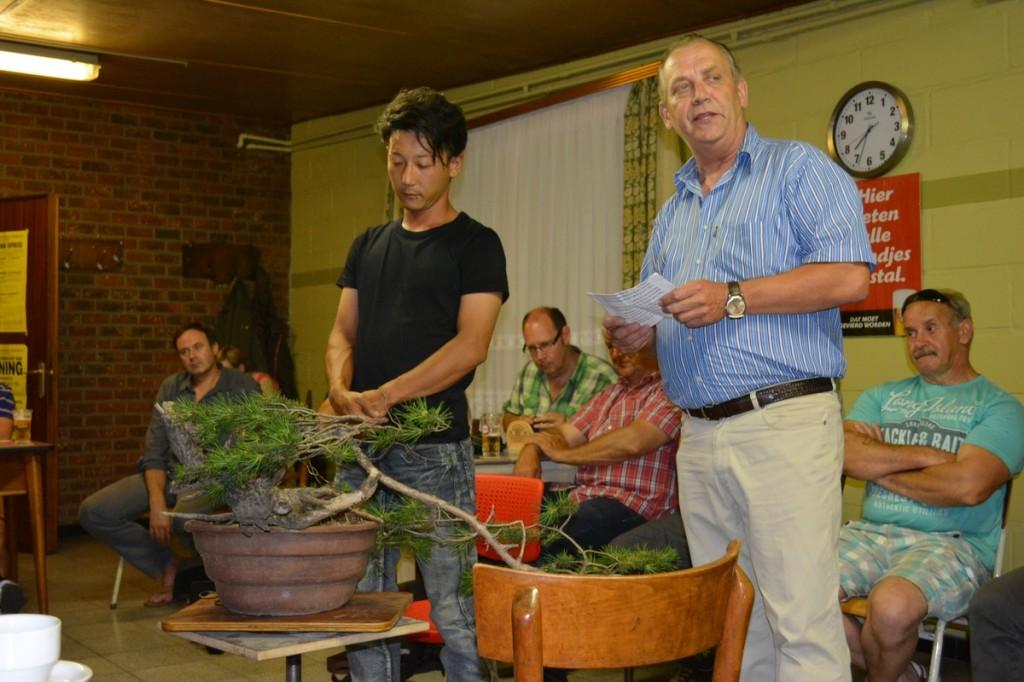 Voorstelling van Taiga Urushibata door onze voorzitter Paul Buedts.